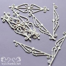 """Kartoninė detalė """"Loveliness - ornamentai"""", 8 vnt."""