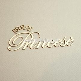 """Kartoninė detalė """"Princesė"""", 3 vnt."""