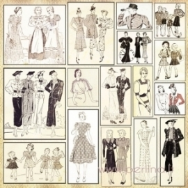 """Popierius """"Collage Fashionista"""", 30,5x30,5 cm"""