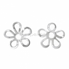 Bead cap, silver plated, 9x9 mm, 1 pc