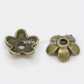 Bead cap, antique bronze, 6x6 mm, 1 pc
