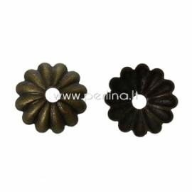Bead cap, antique bronze, 6x6 mm, 10 pc