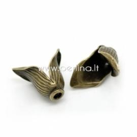 Bead cap, antique bronze, 16x14 mm, 1 pc