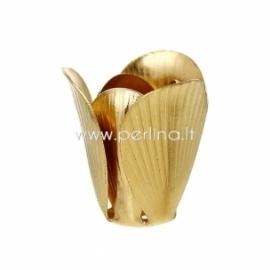 Kepurėlė karoliukui, žalvario sp., 17x16 mm, 1 vnt