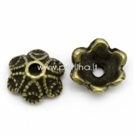 Bead cap, antique bronze, 10x9 mm, 1 pc