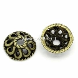 Bead cap, antique bronze, 10 mm, 1 pc