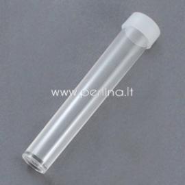 Konteineris karoliukams, plastikinis skaidrus, 78x13 mm