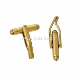 Sąsagos ruošinys, aukso sp., 27x7 mm, 2 vnt.