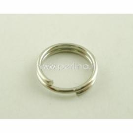 Dvigubas žiedelis, ant.sidabro sp., 7 mm, 10 vnt.