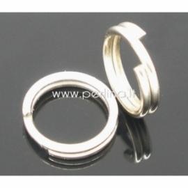 Dvigubas žiedelis, ant.sidabro sp., 8 mm, 10 vnt.