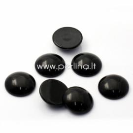 Kabošonas, sintetinis juodasis oniksas, 24 mm