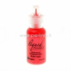 "3D perlamutriniai dažai ""Liquid Pearls Ruby Red"", 18 ml"