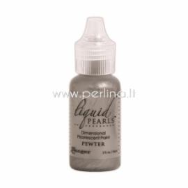 "3D perlamutriniai dažai ""Liquid Pearls Pewter"", 18 ml"
