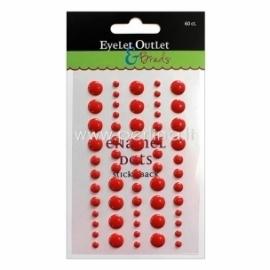 "Lipnūs emalio taškiukai ""Enamel Dots"", raudonos sp., 60 vnt."