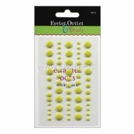 """Lipnūs emalio taškiukai """"Enamel Dots"""", salotinės sp., 60 vnt."""
