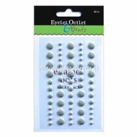 """Lipnūs emalio taškiukai """"Enamel Dots"""", pilkos sp., 60 vnt."""