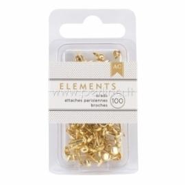 "Dek.vinukai ""Elements Mini Brads - Gold"", 100 vnt."