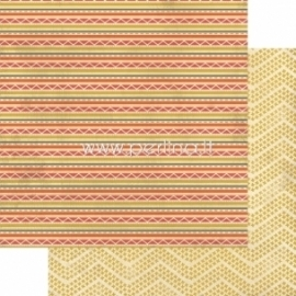 "Popierius ""Indie Chic - Ginger - Travel Stripes"", 30,5x30,5 cm"