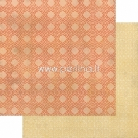 "Popierius ""Indie Chic - Citron - Party Tangerine"", 30,5x30,5 cm"