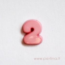 "Rožinis skaičius ""2"", 9 mm, 1 vnt"