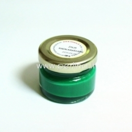 Paint for leather edge, green, 20 g.