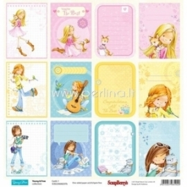 "Popierius ""Cards 1 - Young&Free Collection"", 30,5x30,5 cm"