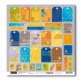 "Popierius ""Tags - Basik's New Adventure Collection"", 30,5x30,5 cm"