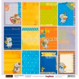 """Paper """"Journaling Cards - Basik's New Adventure Collection"""", 30,5x30,5 cm"""