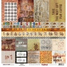 "Popierius ""Cards 2 - Edge Of Town Collection"", 30,5x30,5 cm"