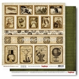 "Popierius ""Punched Card - Mechanical Illusions Collection"", 30,5x30,5 cm"