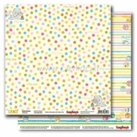"Popierius ""Spots&Stripes - Sweet Dreams Collection"", 30,5x30,5 cm"