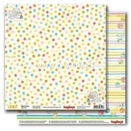 """Popierius """"Spots&Stripes - Sweet Dreams Collection"""", 30,5x30,5 cm"""