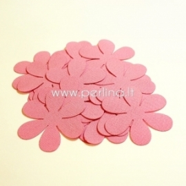 Fabric flowers, pink, 1 pc, select size