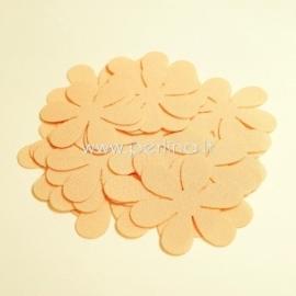 Medžiaginės gėlytės, persikinė sp., 1 vnt., dydis pasirenkamas