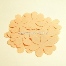 Fabric flowers, peach, 1 pc, select size