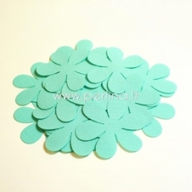 Fabric flowers, mint, 1 pc, select size