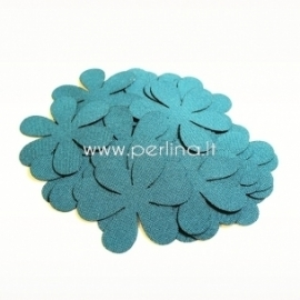 Fabric flowers, dark turquoise, 1 pc, select size