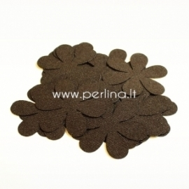 Fabric flowers, dark brown, 1 pc, select size
