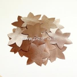 Medžiaginė gėlytė, šviesiai ruda/auksinė sp., 1 vnt., dydis pasirenkamas