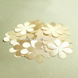 Fabric flowers, nude, 1 pc, select size
