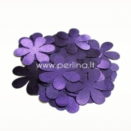 Fabric flower, violet, 1 pc, select size