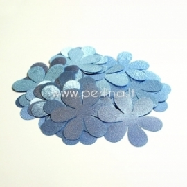Fabric flower, light blue, 1 pc, select size