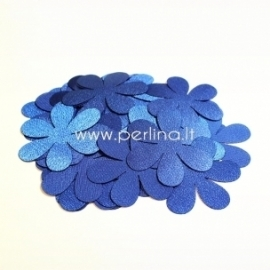 Fabric flower, royal blue, 1 pc, select size
