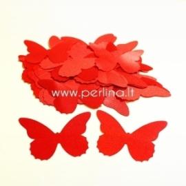 Medžiaginis drugelis, raudonos sp., 1 vnt., dydis pasirenkamas