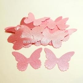 Medžiaginis drugelis, šviesiai rožinės sp., 1 vnt., dydis pasirenkamas