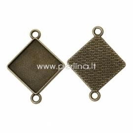 """Sujungimas """"Rombas"""", ant. bronzos sp., 39x30 mm"""