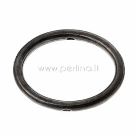 Intarpas rėmelis ovalus, juodos sp., 19x14 mm, 1 vnt.