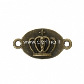 """Sujungimas """"Karūna"""", ant. bronzos sp., 23x12 mm, 1 vnt."""