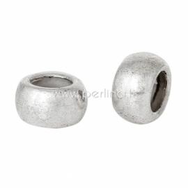 Intarpas - karoliukas, sidabro sp. 5x3 mm, 1 vnt.
