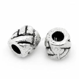 """Intarpas """"Statinė"""" su dryžių raštu, ant. sidabro sp., 5x5 mm, 1 vnt."""